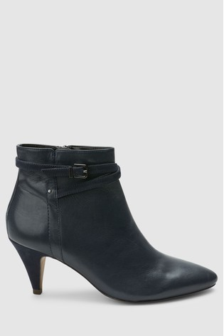6b6b38c101aa Buy Navy Forever Comfort Cone Heel Boots from the Next UK online shop