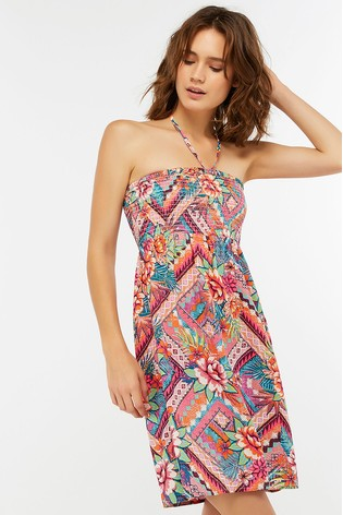 51575b8e682 Buy Accessorize Pink Mozambique Printed Bandeau Dress from the Next ...