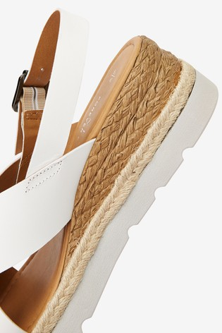 White Sports Cross-Over Wedges