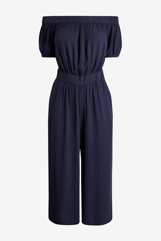 Navy Off The Shoulder Jumpsuit