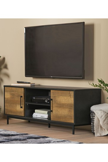 Jefferson Rustic Compact Wide TV Stand