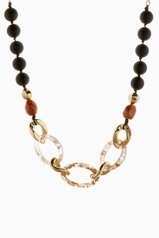 Multi Resin Chain Necklace