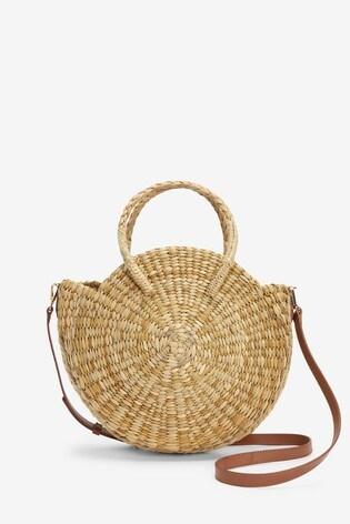 Natural Circle Straw Bag