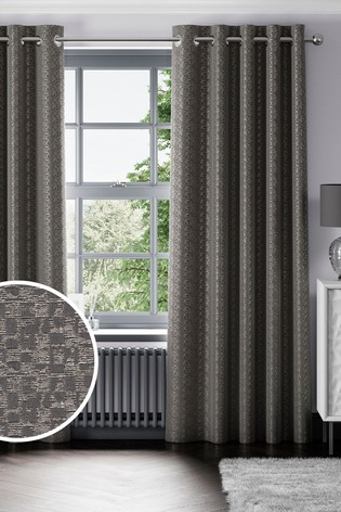Geo Texture Eyelet Curtains