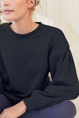 Blue Long Sleeve Lightweight Top