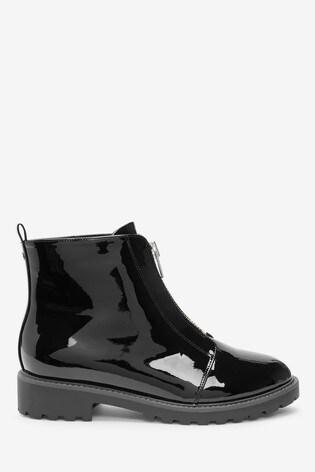 Black Forever Comfort® Black Front Zip Boots