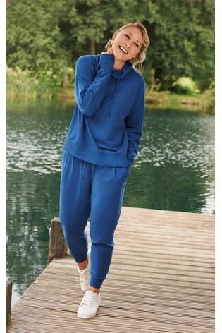 Blue Emma Willis Cowl Neck Hoodie
