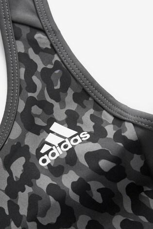 adidas D2M Leopard Sports Bra