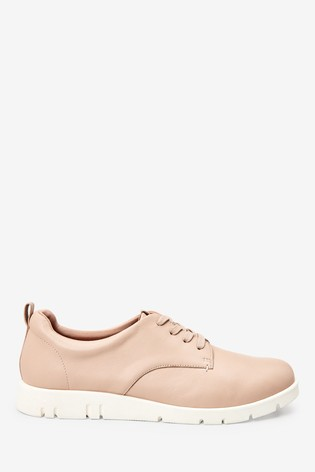 Nude Forever Comfort® With Motion Flex Leather Lace-Up Shoes