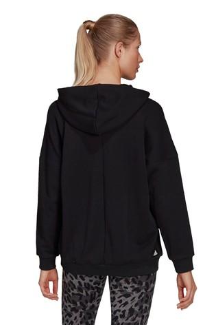 adidas Future Icons Black Oversized Pullover Hoodie