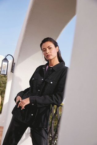 Charcoal Belted Cotton Jacket