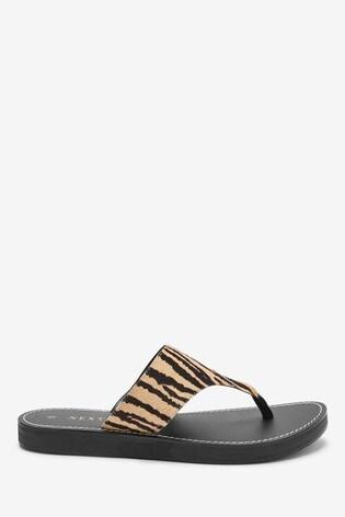 Tiger Regular/Wide Fit Platform Toe Post Mules