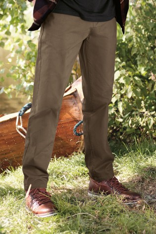 Neutral Straight Fit Stretch Chinos