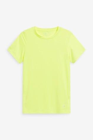 Fluro Yellow Short Sleeve Sports T-Shirt