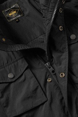 Black Shower Resistant Lightweight Field Jacket