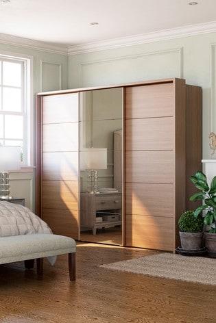 Elmsmore 2.6M Wood Sliding Wardrobe