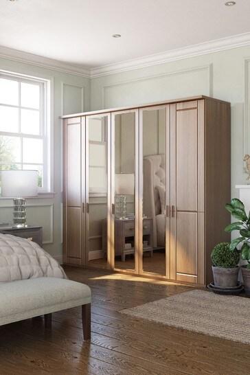 Elmsmore 2.5M Wood Hinged 5 Door Wardrobe
