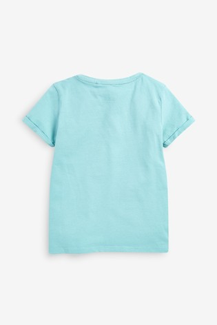 Teal Sequin Rainbow T-Shirt (3-16yrs)