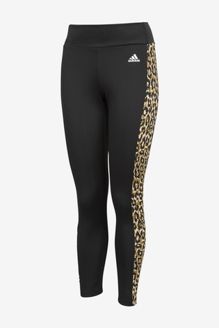 adidas D2M Leopard High Waisted 7/8 Leggings