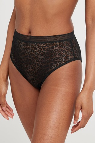 Black Animal Lace Knickers