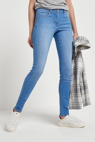 Bright Blue Wash Lift, Slim And Shape Skinny Jeans