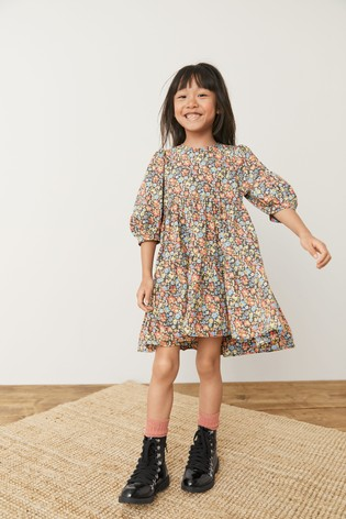 Multi Ditsy Tiered Dress (3-16yrs)