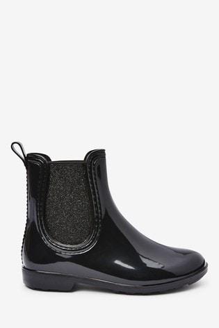 Black Chelsea Boot Wellies