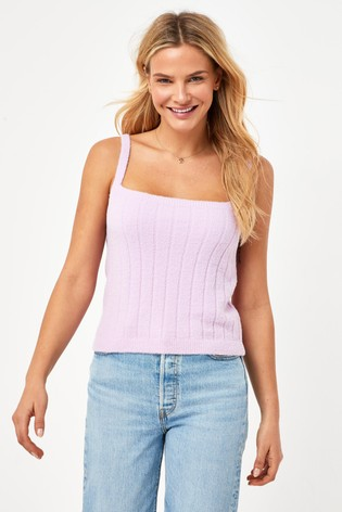 Lilac Knitted Co-ord Vest