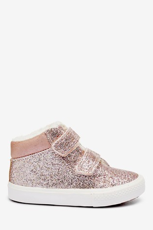 Pink Glitter High Top Boots (Younger)