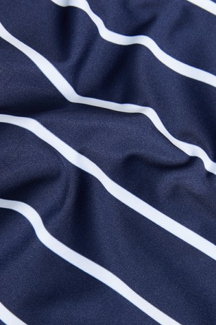 Navy Stripe Maternity Tankini Top