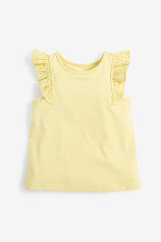 Yellow Frill Vest (3mths-8yrs)