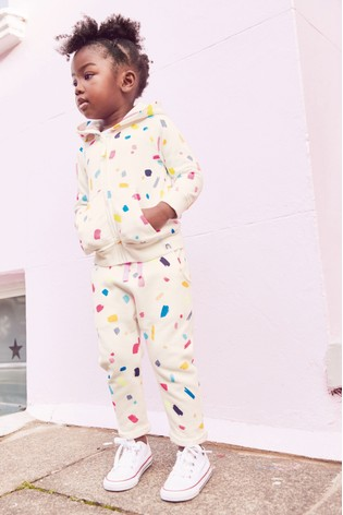 White Paint Print Hoody Soft Touch Jersey (3mths-7yrs)