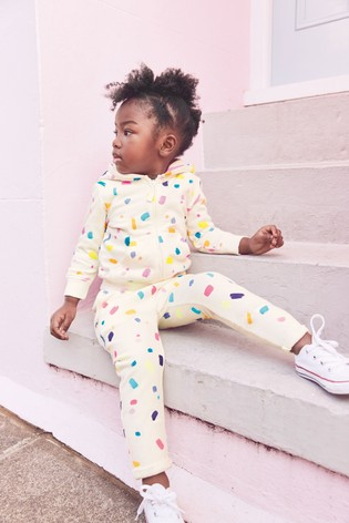 White Paint Print Joggers Soft Touch Jersey (3mths-7yrs)