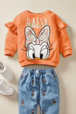 Rust Daisy Duck™ Licence Sweatshirt (3mths-7yrs)