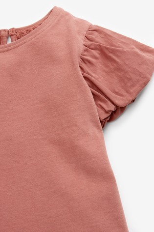 Rust Cotton Puff Sleeve T-Shirt (3mths-7yrs)
