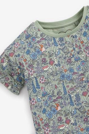 Floral 5 Pack Organic Cotton T-Shirts (3mths-7yrs)