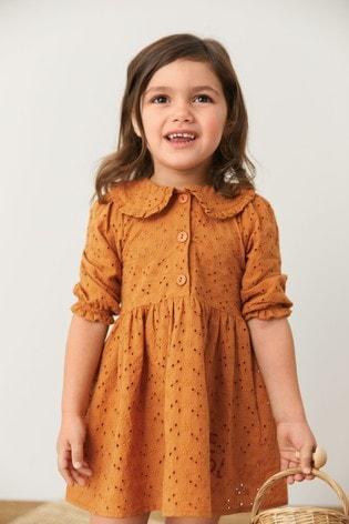 Cotton Broderie Collar Dress (3mths-7yrs)