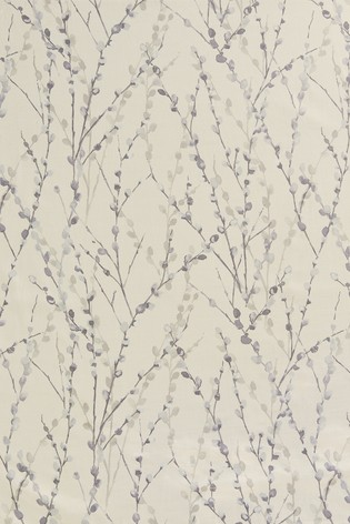 Delicate Willow Print Pencil Pleat Lined Curtains