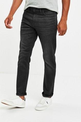 Black Slim Fit Slim Fit Jeans With Stretch
