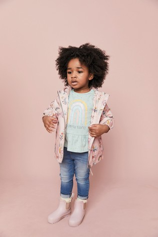 Pink Printed Cagoule (3mths-7yrs)