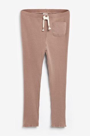 Pink Soft Rib Leggings (3mths-7yrs)