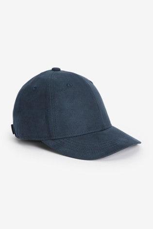Navy Sueded Cap (1-16yrs)