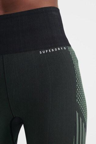 Superdry Sport Black Training Seamless Power Leggings