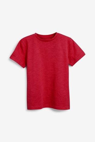 Red Short Sleeve Crew Neck T-Shirt (3-16yrs)