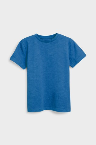 Cobalt Blue Short Sleeve Crew Neck T-Shirt (3-16yrs)