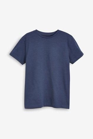 Navy Blue Short Sleeve Crew Neck T-Shirt (3-16yrs)