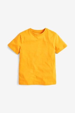 Yellow Short Sleeve Crew Neck T-Shirt (3-16yrs)