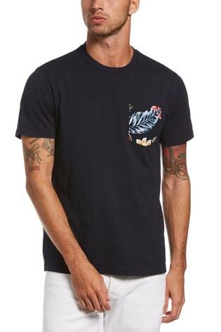 Original Penguin® Blue Floral Pocket T-Shirt