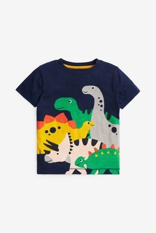 Rainbow Dino Appliqué T-Shirt (3mths-7yrs)