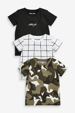Camo 3 Pack All Over Print T-Shirts (3mths-7yrs)